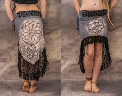 חצאית פרח החיים / חצאית לפסטיבל / ברנינג מן