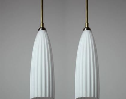 מנורת פליסה לבנה, מנורת תקרה רטרו, מנורת רטרו קטנה