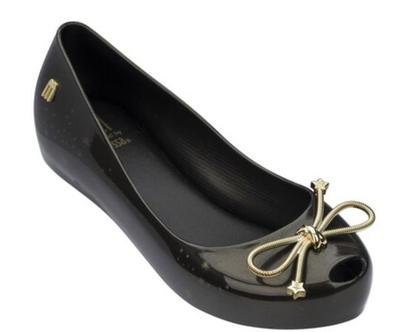 נעלי בובה ילדות שחור