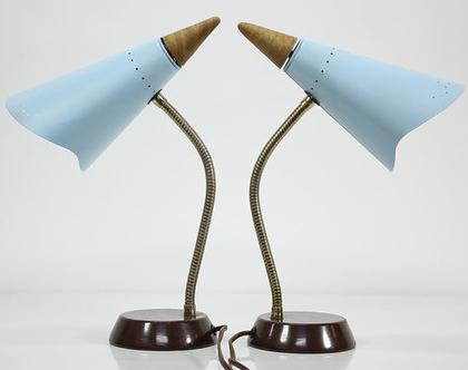 זוג מנורות לילה וינטאג׳ נדירות