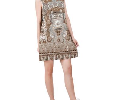 טוניקה -שמלה קצרה בלי שרבול-מידות XS עד XXL