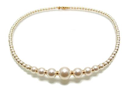 שרשרת פנינים לכלה , תכשיטים לחתונה , תכשיטי פנינים , תכשיטים מעוצבים