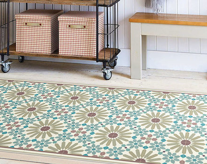 שטיח פי.וי.סי. דגם מרקש צבעי אדמה