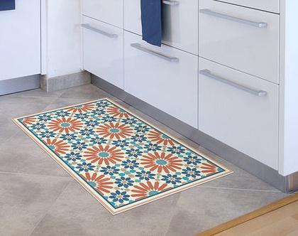 שטיח פי.וי.סי. דגם מרקש כתום