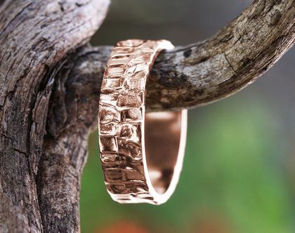 טבעת זהב אדום לגבר, טבעת נישואין 18K, טבעת לחתן, טבעת זהב מיוחדת, טבעת נישואין קלאסית, טבעת נישואים יוניסקס, טבעת זהב רחבה,טבעת זהב עבודת יד