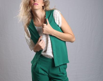 נותרו רק מכנסיים\ מכנס ירוק\מכנס 7\8 \מכנס עם גומי \מכנס נוח \ מכנס לעבודה
