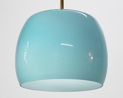 מנורת תקרה תכלת, מנורה בצבע תכלת, מנורת רטרו תכלת