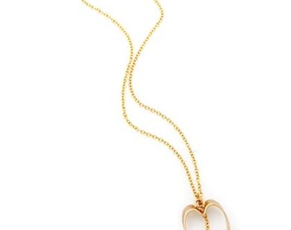 שרשרת זהב דקה - תליון לב עם פנינה - שרשרת זהב לאישה - שרשראות לב - שרשראות פנינה - שרשראות עדינות - שרשראות לאישה - מתנה רומנטית - יום האהבה