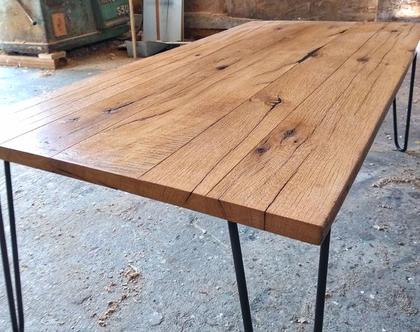 שולחן סלון | עץ וברזל | עץ ממוחזר