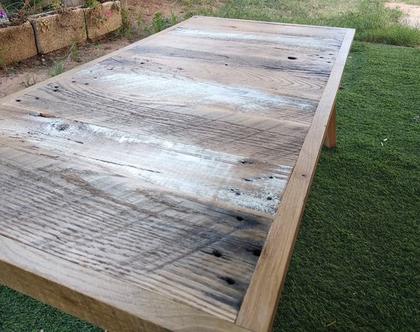 שולחן סלון מעץ | שולחן מעץ ממוחזר | שולחן קפה