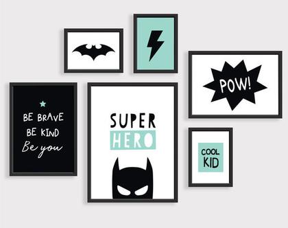 פוסטרים לחדרי ילדים גיבור על | הדפסים לחדרי ילדים | פוסטרים לחדר ילדים | פוסטרים לחדר תינוקות | עיצוב חדר ילדים | פוסטרים לילדים