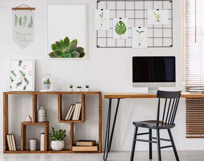 4 גלויות מעוצבות דגם Botanical