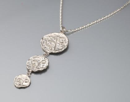 שרשרת כסף מטבעות, שרשרת מטבעות, שרשרת כסף, שרשרת כסף מיוחדת, שרשרת כסף מעוצבת, שרשרת כסף 925, מתנה מקורית לאישה