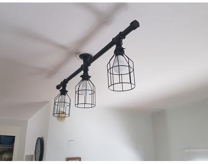 מנורה תקרה מצינורות
