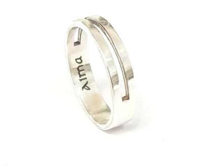 טבעת כסף לגבר | טבעת בהזמנה אישית | מתנה לבן זוג |