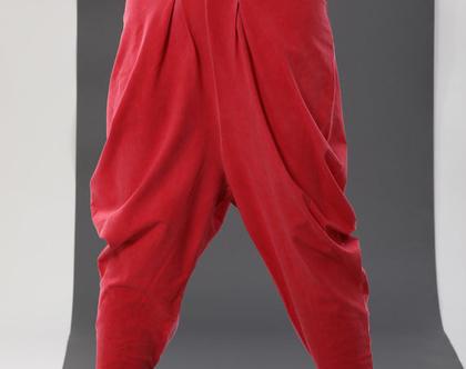 מכנסי יהלום | אדומים