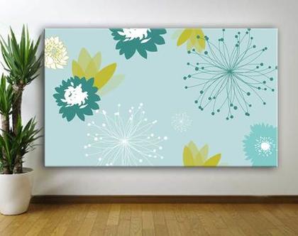 פרחים - תמונת אוירה על קנבס | תמונה מעוצבת לבית | תמונת קנבס לסלון | הדפס קנבס איכותי