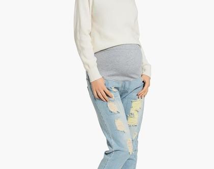 מכנסי הריון ג'ינס דנים !!