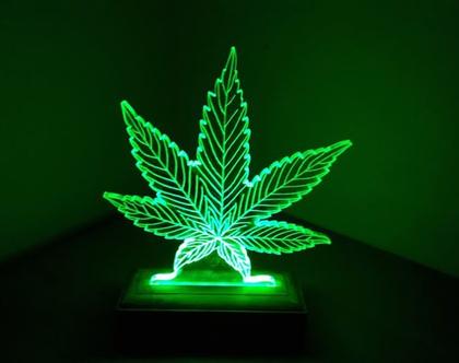 עלה ירוק - מנורת לד