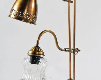 מנורת שולחן מתכווננת נחושת