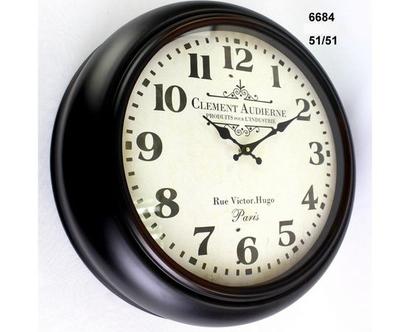 שעון קיר - קוטר 51 | שעון קיר בצבע שחור