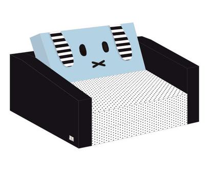ספה לקטנטנים תכלת/ ספה נפתחת לילדים/ עיצוב חדרי ילדים/ עיצוב החדר/ ספה/ ספה נפתחת / ספונת לילדים