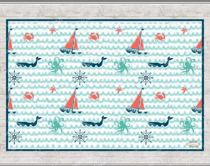שטיח לחדר ילדים - Rich sea-2 | שטיח פי.וי.סי מעוצב לחדר ילדים | שטיח פי.וי.סי לחדרי ילדים