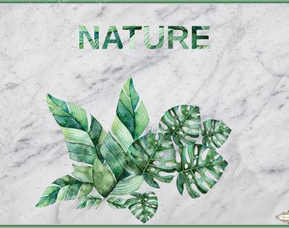 שטיח פי.וי.סי בעיצוב מקורי Botanical 5 | שטיח PVC בהתאמה אישית | שטיח PVC מעוצב לבית