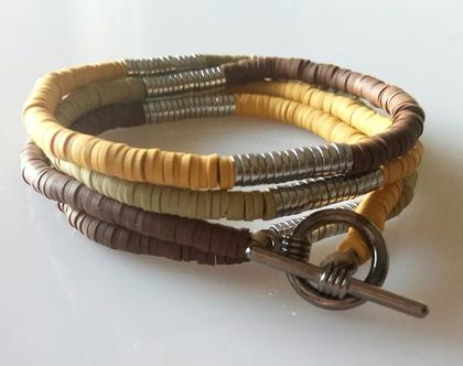 צמיד מתלפף צבעוני לגבר - צמידים לגבר- תכשיטים לגבר - צמיד צבעוני לגבר - גברים צמידים