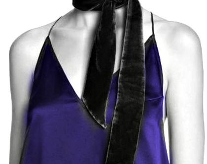 ECHO | צעיף/עניבה טרנדי שחור אצ'ו