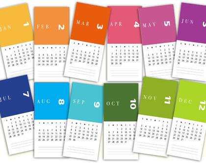 לוח שנה צבעוני 2020 | לוח שנה מעוצב | 12 לוחות ממותגים