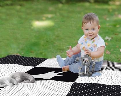 שמיכה לגינה/ שמיכה לחצר/ שמיכה דו צדדית/ שמיכה מתקפלת לתיק/שמיכת פעילות לתינוק/ עיניים עצומות