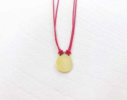 שרשרת חוט אדום ומנעול זהב   שרשרת אתנית   בוהושיק   זהב 9 קראט