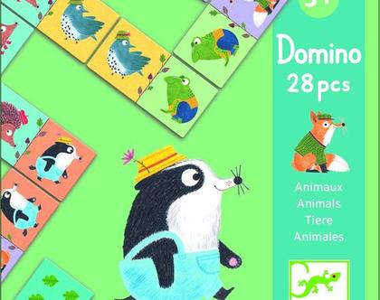 משחק דומינו-חיות חמודות