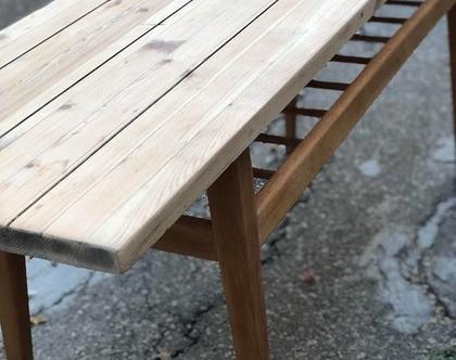 שולחן סלון ארוך וינטג'