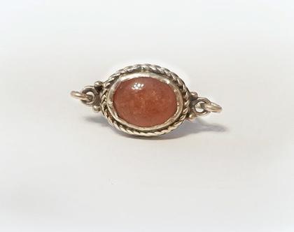 טבעת כסף ורובי בסגנון עתיק מיוחד