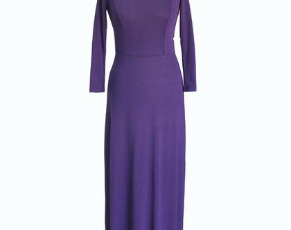 שמלת מקסי סגולה
