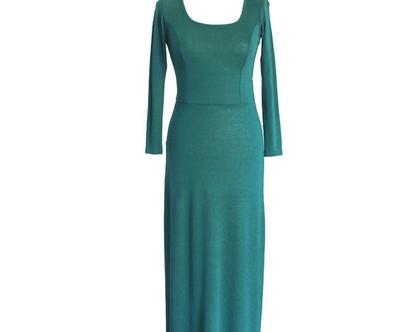 שמלת מקסי ירוקה