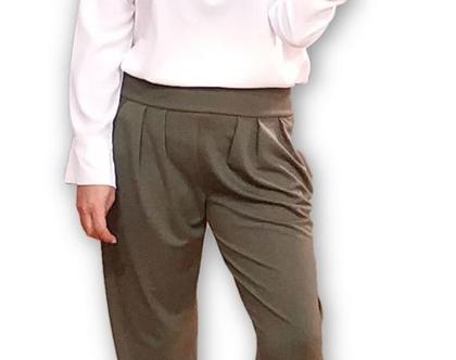 מכנס אלגנטי זית