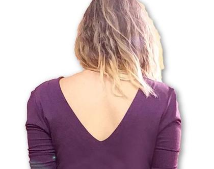 שמלה מעטפת סגולה