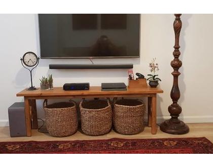 ספסל עץ מלא דגם חן