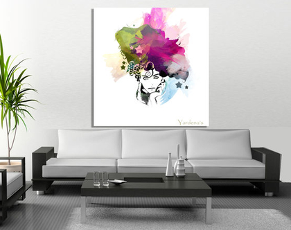 תמונת קנבס ♥3 woman head  תמונה מיוחדת לסלון  תמונת קנבס ראש של אשה   תמונת ראש של אשה