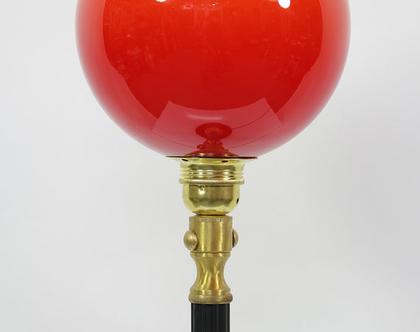 מנורת ארט דקו אדומה, מנורת לילה וינטאג׳, מנורה אדומה