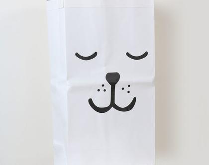 שק איחסון נייר דגם עיניים