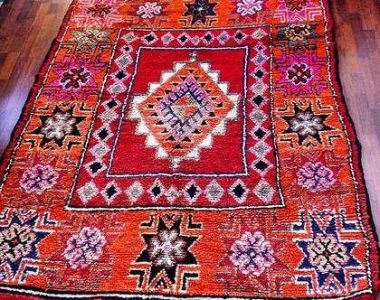 90# ** נימכר ** מידות. 260X170. מרוקאי שבטי מקורי מרהיב