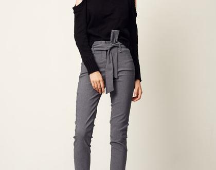 סריג טיילור | סריג שחור | סוודר מעוצב | סוודר לאישה |