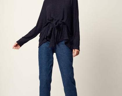 סריג אליס | סריג כחול| סוודר מעוצב | סוודר לאישה |
