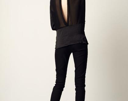 חולצת אמה - שחור   חולצה שחורה   חולצה חגיגית  