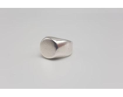 טבעת חותם לזרת כסף 925