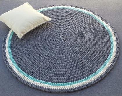 שטיח טריקו | שטיח סרוג | שטיח עבודת יד | שטיח עגול | שטיח לחדר ילדים | שטיח לסלון | שטיחים סרוגים
